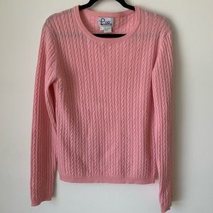 Lilly Pulitzer Cashmere CableKnit Crewneck Sweater